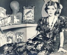 Inspirational Images: Annabel Hodin in Ossie Clark