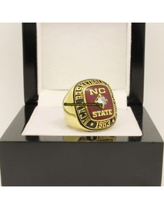 1983 NC State Wolfpack NCAA Men's Basketball National Championship Ring