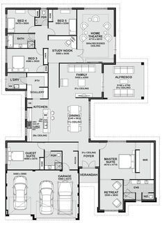 Floor Plan Friday 5 bedroom entertainer Floor Plan Friday 5 bedroom entertainer Philippe Cogo philippecogo architecture/ house ideas Office instead of guest room. change configuration of […] room layout floor plans The Plan, How To Plan, Dream House Plans, House Floor Plans, Large Floor Plans, 5 Bedroom House Plans, Modern Floor Plans, Kitchen Floor Plans, Building Plans