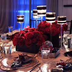 25 Stunning Wedding Centerpieces - Part 10 - Belle the Magazine . The Wedding Blog For The Sophisticated Bride #GoRedforWomenNE