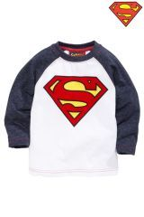 Superman Logo T-Shirt (3mths-6yrs)