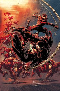 Marvel Comics presents an exclusive look at the art for Absolute Carnage and Venom Marvel Comics Art, Marvel Heroes, Captain Marvel, Marvel Avengers, Avengers Quotes, Venom Art, Spiderman Art, Venom Spiderman, Silver Surfer