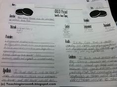 OREO Project Science Based Inquiry sheet we used to make this a scientific investigation
