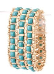 Bejeweled Turquoise Bracelet