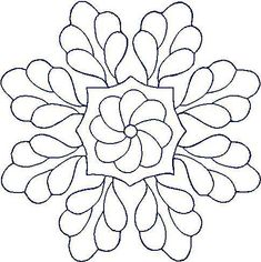 motif broderie a imprimer Hand Quilting Patterns, Quilting Stencils, Zentangle Patterns, Free Motion Quilting, Quilting Designs, Embroidery Patterns, Mandala Painting, Dot Painting, Fabric Painting