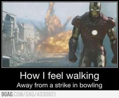 Thats right I am an awesome bowler :)