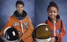 "Lily as Mae Jemison, ""the first African-American woman to get accepted in NASA astronaut training program. She.was also the first to go into outer space, abroad the Endeavor in 1992."""