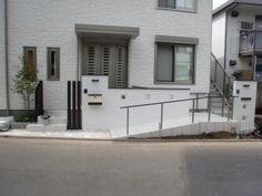 国分寺市外構工事 外構デザイン トップテクノ スロープ バリアフリー