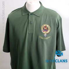 Duncan Clan Crest Embroidered Polo Shirt. Free worldwide shipping available