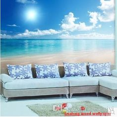 new can be customized home decor big wallpaper tv wall stickers