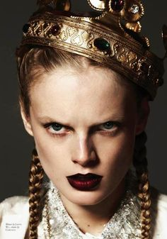 Burgundy Lips | Hanne Gaby Odiele photographed by Michael Schwartz for Black Magazine, May 2012
