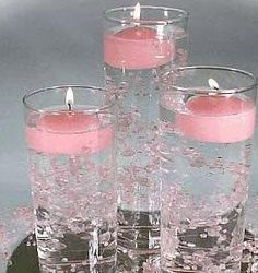 Table Decorations ~ so easy yet so elegant and inexpensive. This site also has other ideas for Wedding Tables.