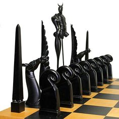The most amazing mid-century chess set I have ever seen online. Only starting the auction bids at $6000!