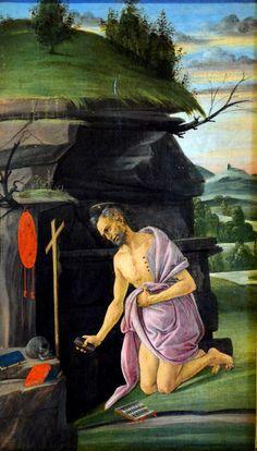Saint Jérôme par Sandro BOTTICELLI (1445-1510) - Musée de l'Ermitage - Saint-Petersbourg, Russie - Photo Hervé Leyrit.