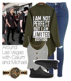 """Around Las Vegas with Calum and Michael."" by welove1 ❤ liked on Polyvore featuring Topshop, adidas, Charlotte Russe and FOSSIL"