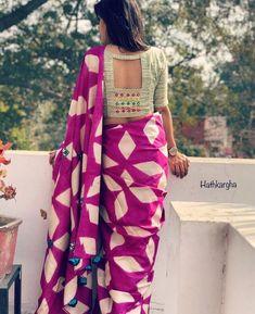 Combi grey and purple New Saree Blouse Designs, Fancy Blouse Designs, Bridal Blouse Designs, Salwar Designs, Lehenga Designs, Designer Blouse Patterns, Pattern Blouses For Sarees, Stylish Blouse Design, Sari Silk