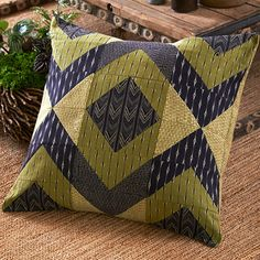 Parson Gray Flannel Pillow from his Empire collection