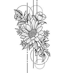 Pencil Art Drawings, Art Drawings Sketches, Tattoo Drawings, Flower Tattoo Designs, Flower Tattoos, Small Tattoos, Mother Daughter Tattoos, Tattoos For Daughters, Muster Tattoos