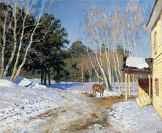 Isaac Levitan, March--1895,  Tretyakov Gallery, Moscow, Russia