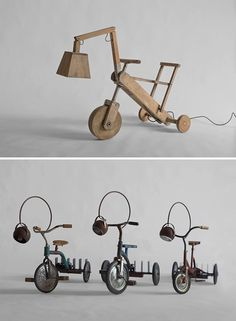 Moveable lamp from tricycle