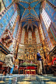 St. Mary's Altar, Krakow, Poland.