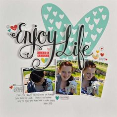 Enjoy Life *Silhouette* : Gallery : A Cherry On Top Baby Girl Scrapbook, Baby Scrapbook Pages, Kids Scrapbook, Scrapbook Designs, Scrapbook Paper Crafts, Scrapbook Supplies, Scrapbooking Layouts, Scrapbook Cards, Nova Chance