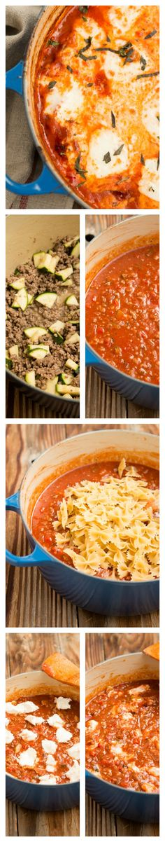 The BEST, tried and tested, One Pot Recipe! One pot lasagna pasta ohsweetbasi. Pasta Recipes, Beef Recipes, Dinner Recipes, Cooking Recipes, Healthy Recipes, Lasagna Recipes, Hamburger Recipes, Dinner Ideas, Risotto