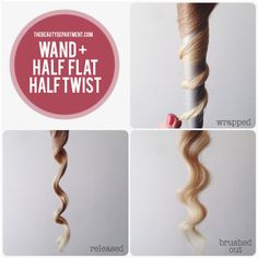 wand waves, half flat wrapped, half twist wrapped