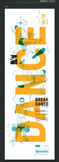 Graphic design trends Poster - Festival Sudamericano de Funk cool type mixed with illustration. Love it.