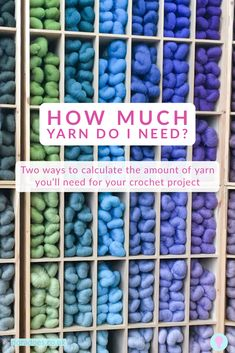 Learn 2 ways to calculate how much yarn you need for your crochet (or knit) project using either area or stich count. Never loose at yarn chicken again! Beginner Crochet Tutorial, Crochet Tutorials, Crochet Yarn, Crochet Stitches, How To Make Scarf, Simple Math, Modern Crochet, Crochet Videos, Crochet Designs