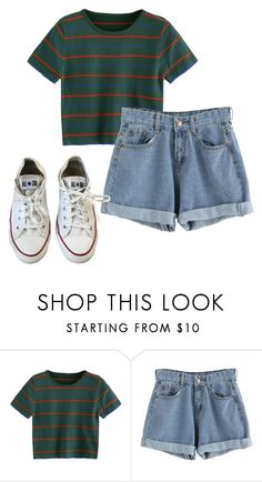 """""""80s 90s, Outfit"""" by elzikaa on Polyvore featuring Converse"""