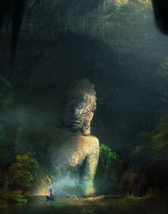 """Secret of Champa 01 by Dao Duy Tung - From $50. You will get an 8"""" x 10"""" size art print on museum quality archival paper. More options available at www.projectartshack.com #asia #digital #art #khmer"""