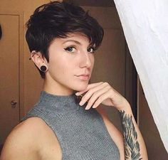 Long pixie hairstyles are a beautiful way to wear short hair. Many celebrities are now sporting this trend, as the perfect pixie look can be glamorous, elegant and sophisticated. Here we share the best hair styles and how these styles work. Pixie Haircut Styles, Pixie Cut Styles, Short Pixie Haircuts, Girl Haircuts, Hairstyles Haircuts, Cool Hairstyles, Short Hair Styles, Pixie Cuts, Trendy Haircuts