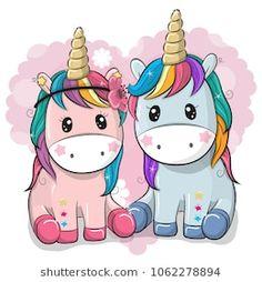Two Cute Unicorns on a heart background. Two Cute Cartoon Unicorns on a heart background royalty free illustration Unicorn Drawing, Cartoon Unicorn, Unicorn Art, Cute Unicorn, Cute Small Animals, Unicorn Backgrounds, Cat Patch, Unicorn Pictures, Heart Background