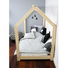 Dětská dřevěná postel ve tvaru domečku, 80x160 cm | Bonami