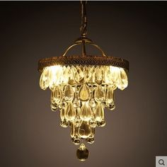 230.56$  Watch here - http://ali4cr.worldwells.pw/go.php?t=32358825954 - Luminaire LED Vintage Crystal Pendant Light With 4 Lights Indoor Lighting,Lustre Cristal Sala Teto 230.56$