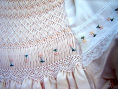 """Lace"" smocking - this is the most original smocking I've seen in 25 years! Beautiful!"