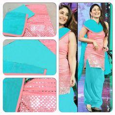 kareena pink patiyala suit
