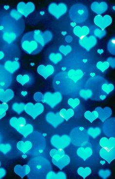 Blue heart bokeh wallpaper I created for the app CocoPPa!