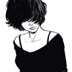 Black and White Illustration Character Inspiration, Character Art, Character Design, Illustrations, Illustration Art, Portraits, Arte Pop, Art Inspo, Art Girl