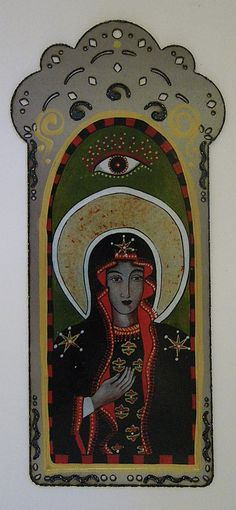 Our Lady of Chestochowa Laser cut steel collage by christinamiller