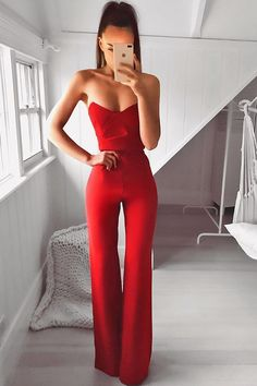 Bisous Formal Jumpsuit in Red by Nookie - Red Dresses - Ideas of Red Dresses The Effective Pictures We Offer You About REd dress hijab A q Formal Jumpsuit, Red Jumpsuit, Jumpsuit Outfit, Dress Long, Year 10 Formal Dresses, Formal Playsuit, Red Playsuit, Red Formal Dresses, Two Piece Jumpsuit