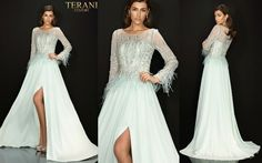 TERANI COUTURE 2011M2163 authentic dress. FREE FEDEX. BEST PRICE   eBay Terani Couture, Bride Gowns, Prom Dresses, Formal Dresses, Chiffon Skirt, Bright Pink, Long Sleeve, Skirts, Free