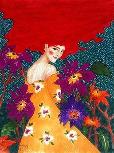 hülya özdemir — looking back is bittersweet Art And Illustration, Illustrations, Arte Pop, Alphonse Mucha, Art Graphique, Portrait Art, Portraits, Female Art, Painting & Drawing