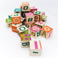 Wooden blocks - love the colors and texture on these