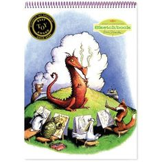 Eeboo Sketchbook: Dragon by Eeboo. $7.99. This sketchbook measures 8 1/2 inches by 11 1/2 inches and contains 60 pages for drawings and doodles.  Illustrated cover.