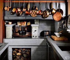 The kitchen in designer Ken Fulk's San Francisco home