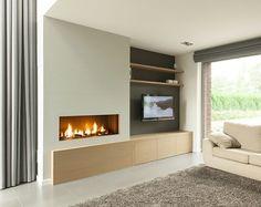 Image result for inbouw gashaard met tv