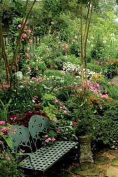 After working in the yard all day, make sure you have a place in your garden for you to sit and enjoy what you've created.