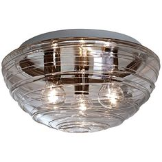 "Besa Wave 15"" Wide Smoke Ceiling Light - #4J685 